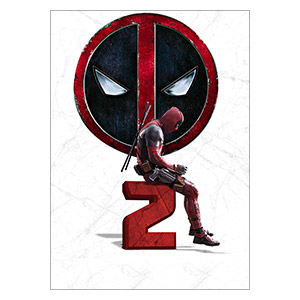 Deadpool. Размер: 25 х 35 см